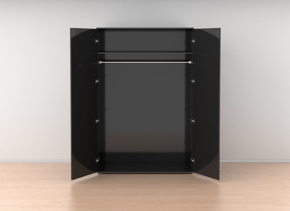 wandkast van zwart hout